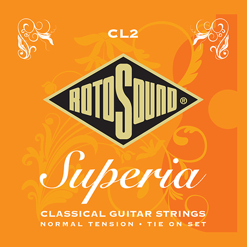 cl2 Rotosound Superia classical nylon strings for Spanish guitar. Tension tie end