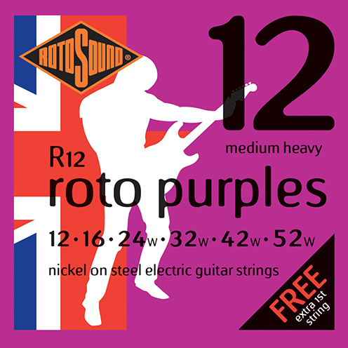r12 Rotosound Roto nickel wound electric guitar strings. Best quality affordable giutar string for rock pop country metal funk blues
