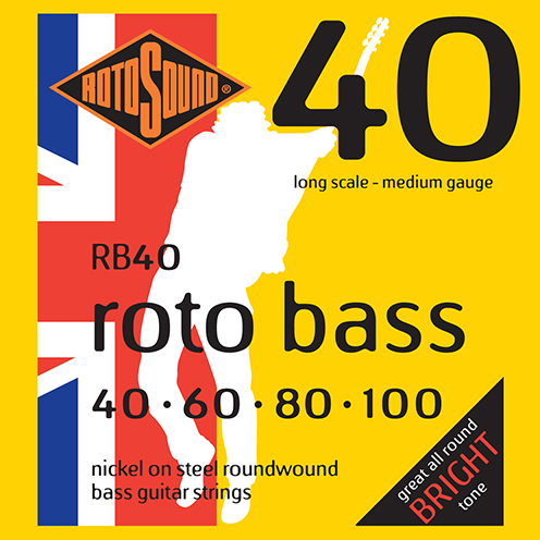 rb40 Rotosound Roto Bass strings. Affordable Steel nickel roundwound round wound swingbass bass wire precision jazz Rickenbacker 4003 John Entwistle bajo guitare rock metal medium gauge guage regular bright
