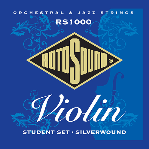 rs1000 Rotosound violin string silver student set