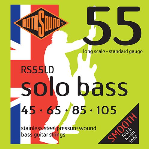 RS55LD Rotosound RS55 LD Solo Bass strings. Pressure wound pressurewound Steel roundwound round wound swingbass bass wire precision jazz Rickenbacker 4003 bajo guitare rock metal standard gauge regular bright