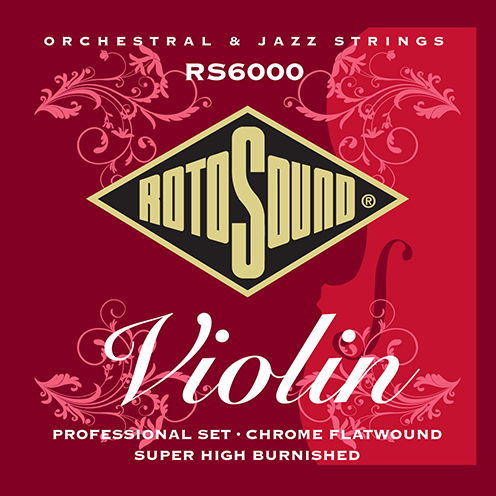 rs6000 Rotosound violin string monel professional flatwound set