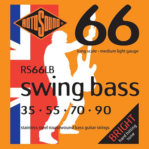 Rotosound RS66 LB Swing Bass strings. Steel roundwound round wound swingbass bass wire precision jazz Rickenbacker 4003 John Entwistle bajo guitare rock metal standard gauge regular bright