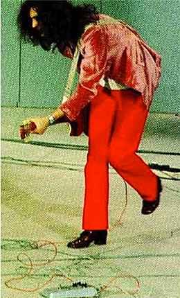 "Jimmy Page using the Rotosound Fuzz 19/6/69 Paris ""Tous En Scene"""