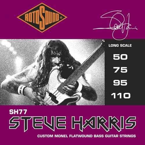 SH77 foil Steve Harris custom gauge flatwound flat wound tapewound tape Rotosound bass guitar strings Iron Maiden Heavy Metal Rock gitar guage stings srings