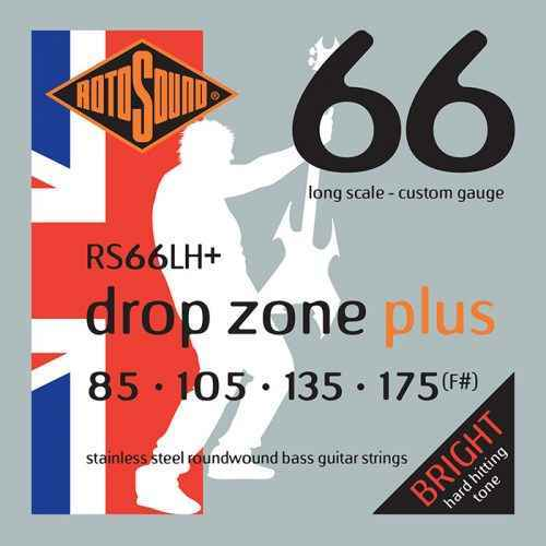 Rotosound Drop Zone RS66LH Plus 65-130 Foil Swing Bass low tuned electric bass guitar strings set