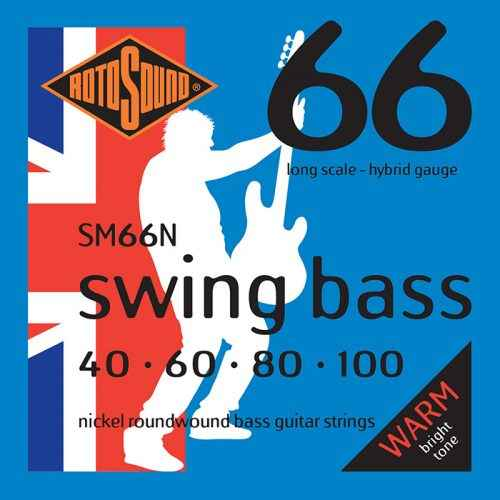 SM66N nickel strings hybrid gauge Swing Bass 66 5string bass guitar set of string 40 125 gauge bright stainless steel tone roundwound round wound guage medium 40 100
