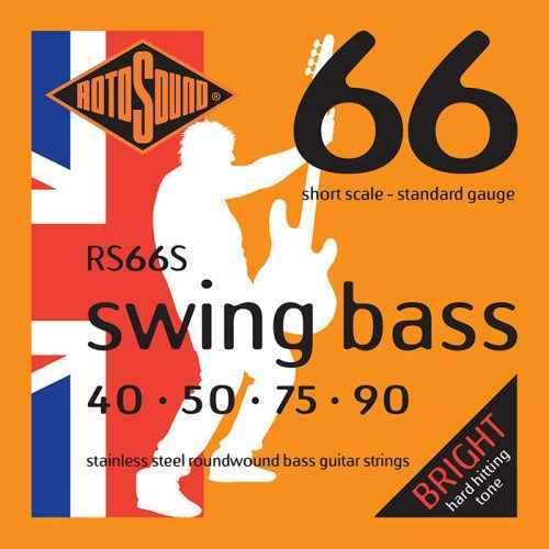 RS66S Rotosound RS66 S Swing Bass short scale bas guitar strings. Steel roundwound round wound swingbass bass wire precision jazz Rickenbacker 4003 John Entwistle bajo guitare rock metal standard gauge regular bright