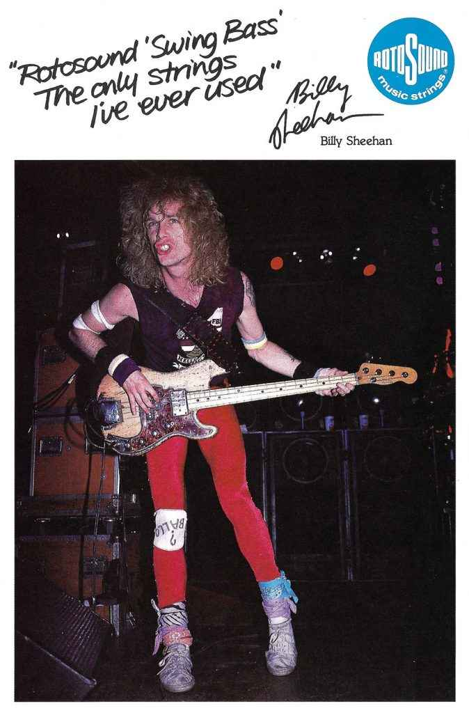 Billy Sheehan in Rotosound catalogue 1986
