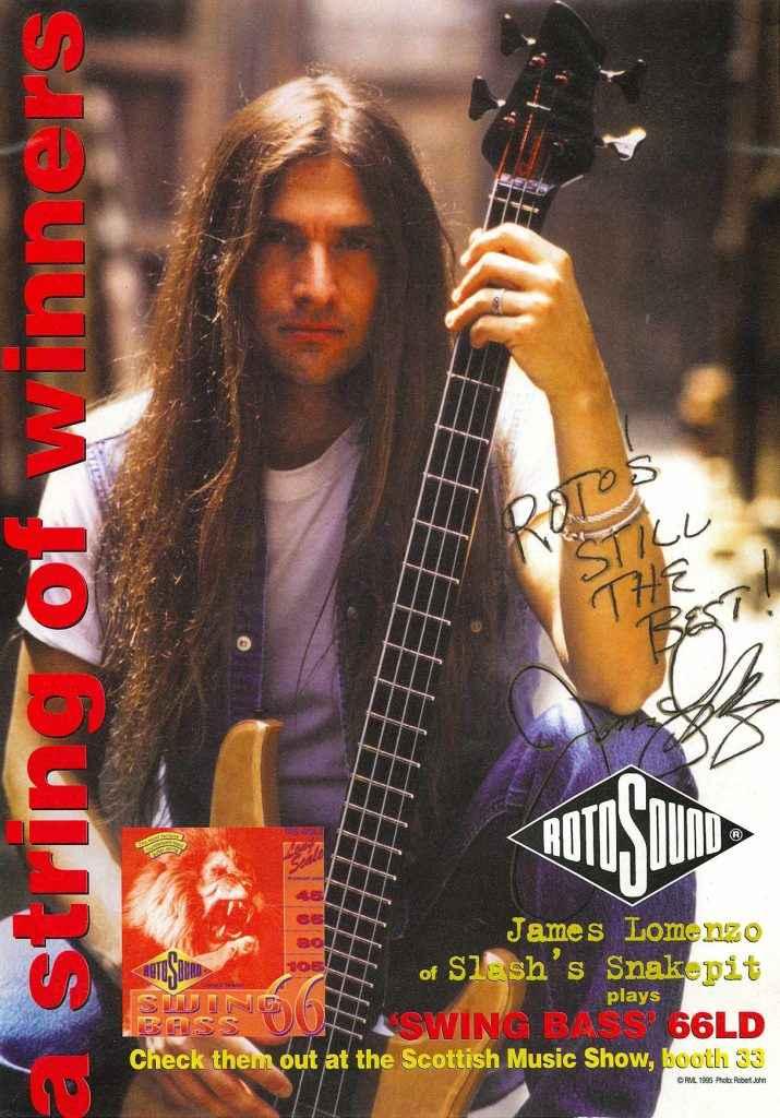 James LoMenzo Slash's Snakepit Rotosound advert 1995