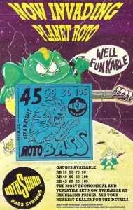 Roto Bass Planet Rotosound advert 1993