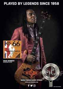 Rotosound Diamond Anniversary advert featuring Living Colour bassist Doug Wimbish