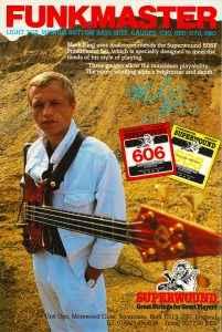 Mark King Level 42 Funkmaster Rotosound Superwound advert 1985