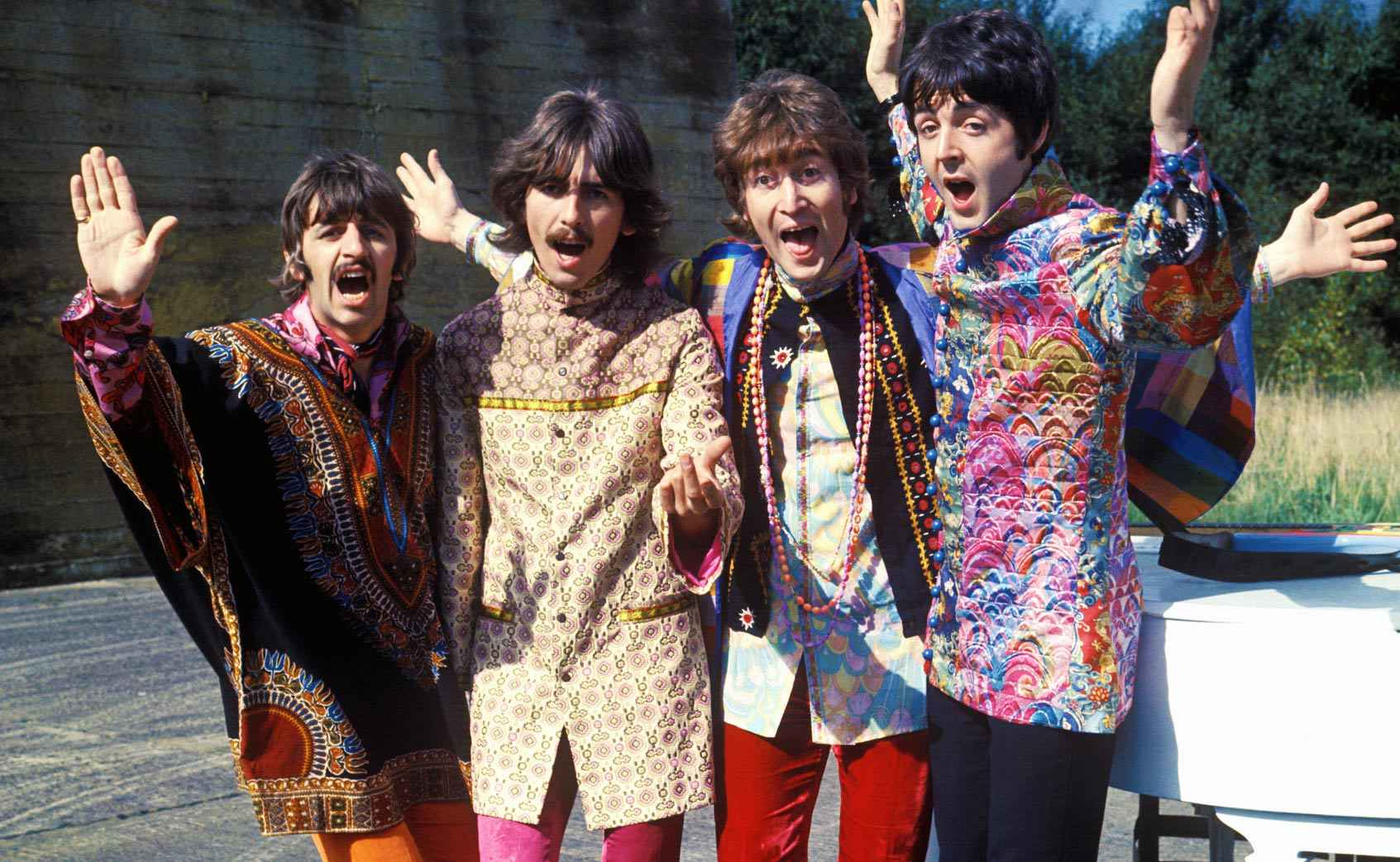 George Harrison Guitar Strings Press photo of The Beatles during Magical Mystery Tour