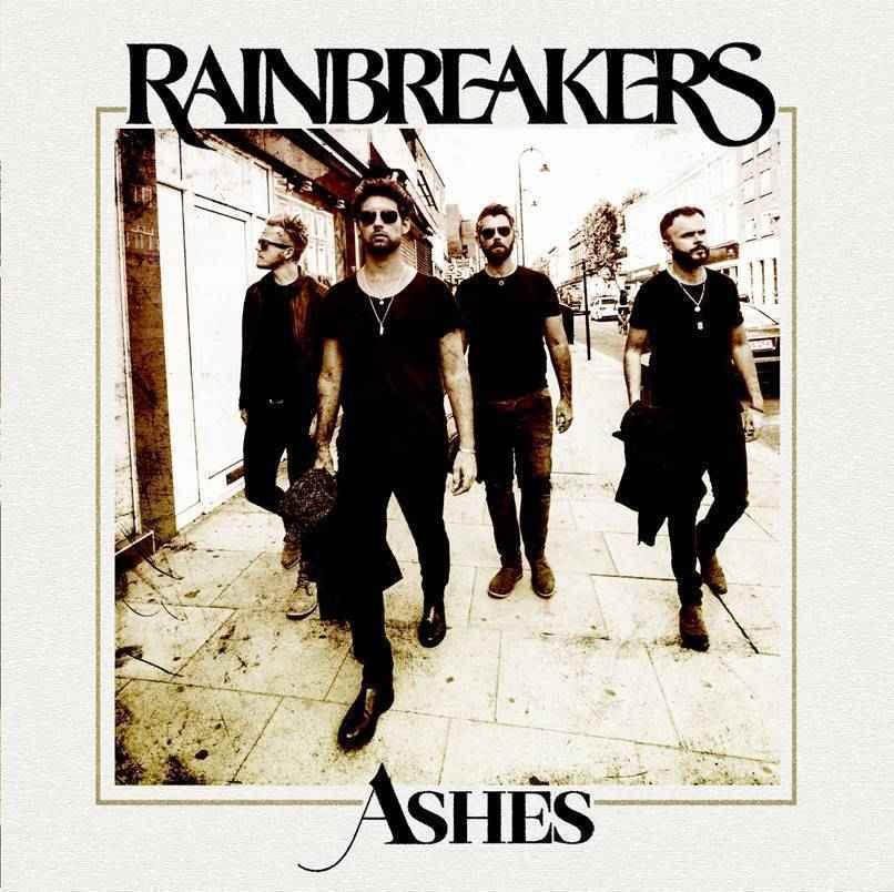 Rainbreakers Ashes single cover. Rotosound rock band