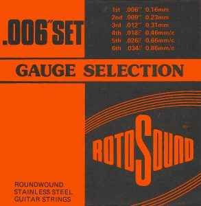 Rotosound Gauge Selection .006 set packaging front