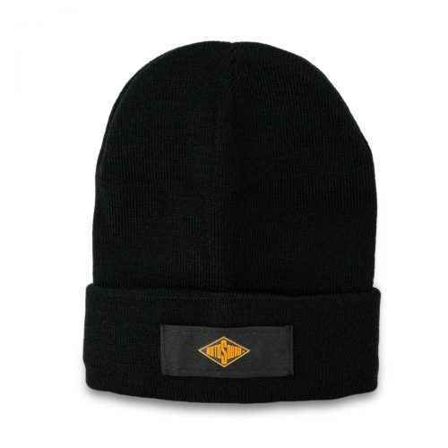 Black Beanie Hat with Rotosound Strings logo winter merchandise beany