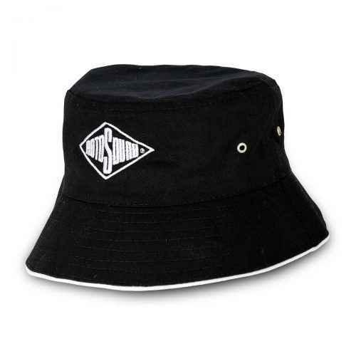 Black Bucket Hat with Rotosound Strings logo summer merchandise sunhat