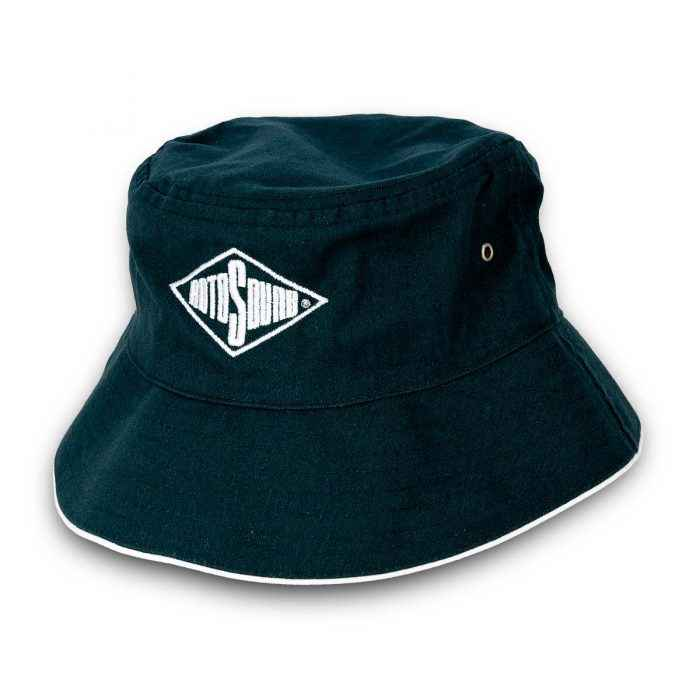 Bottle Green Bucket Hat with Rotosound Strings logo summer merchandise sunhat