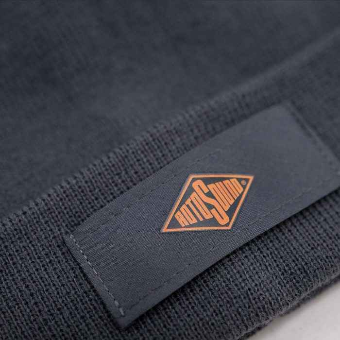 Rotosound Storm Grey Patch Beanie Hat merchandise apparel detail