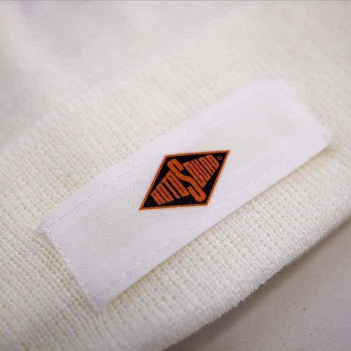 Rotosound White Patch Beanie Hat merchandise apparel detail